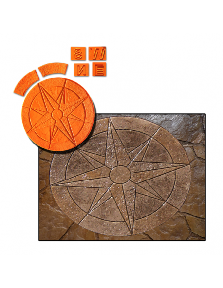 compass combo concrete stamp