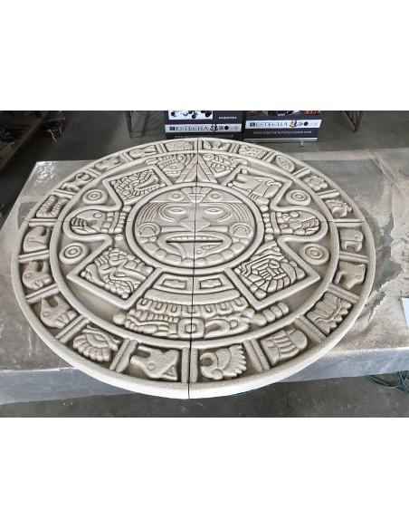 Reloj maya hecho con mortero de capa fina para porexpan ESTone.tex-ForteMix