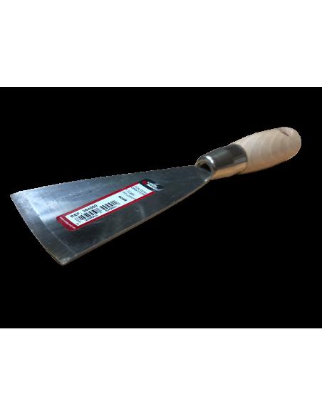 Curved steel spatula