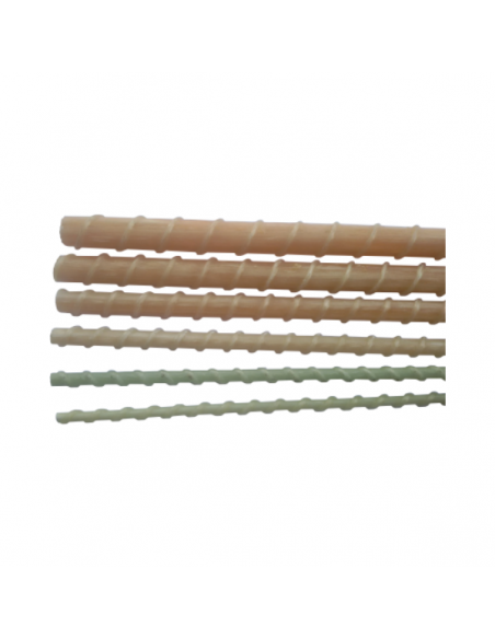 Corrugated fiberglass rods 4, 6, 8, 10, 12, 14 mm