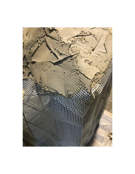 Mesh for artificial rock structure