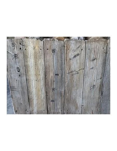 Artificial wood in facade
