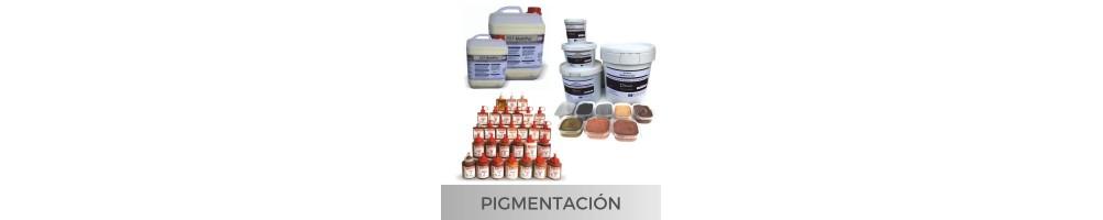 Pigmentación de mortero y bases minerales en trabajos de tematización