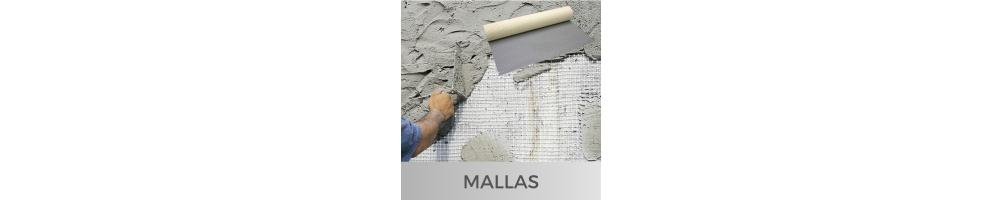 Anti-fissure mesh and plastic mesh for mortar, plaster, etc.