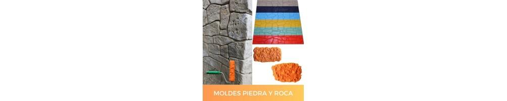 Moldes para hacer texturas de piedra y roca con mortero