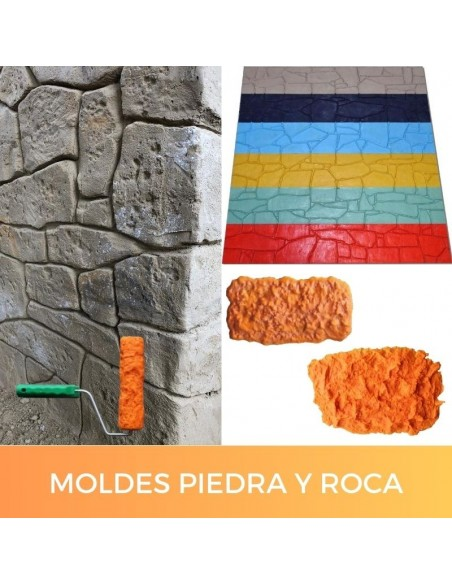 Rock and stone texture molds