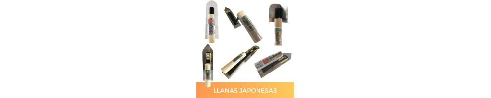 Llanas japonesas para tematización, revestimientos, estucados, etc