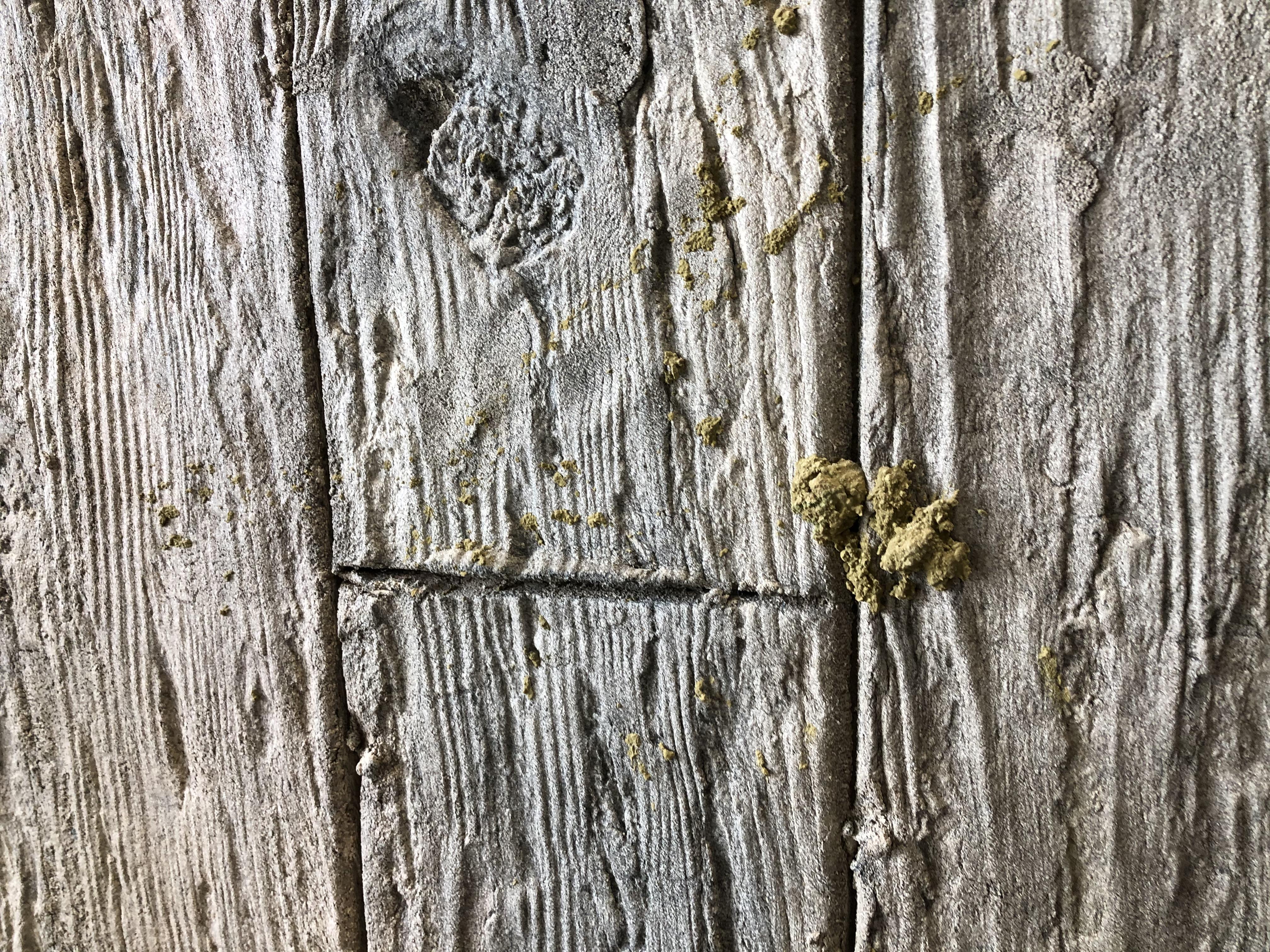 Reproducción de musgo con pátinas en polvo