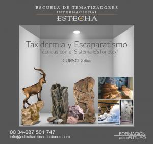 Cartel taxidermia y escaparatismo
